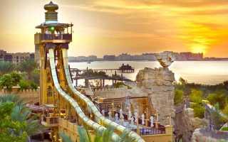 Дубай — аквапарк Wild Wadi: видео
