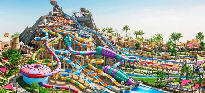 Абу Даби (ОАЭ) — аквапарк Yas Waterworld