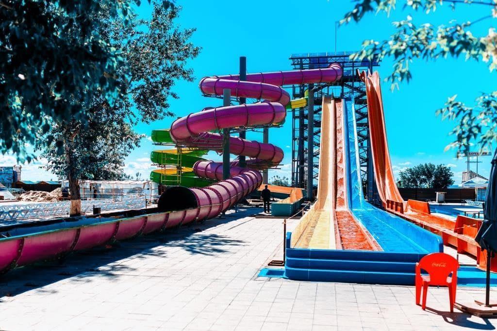 Горки аквапарка Лава