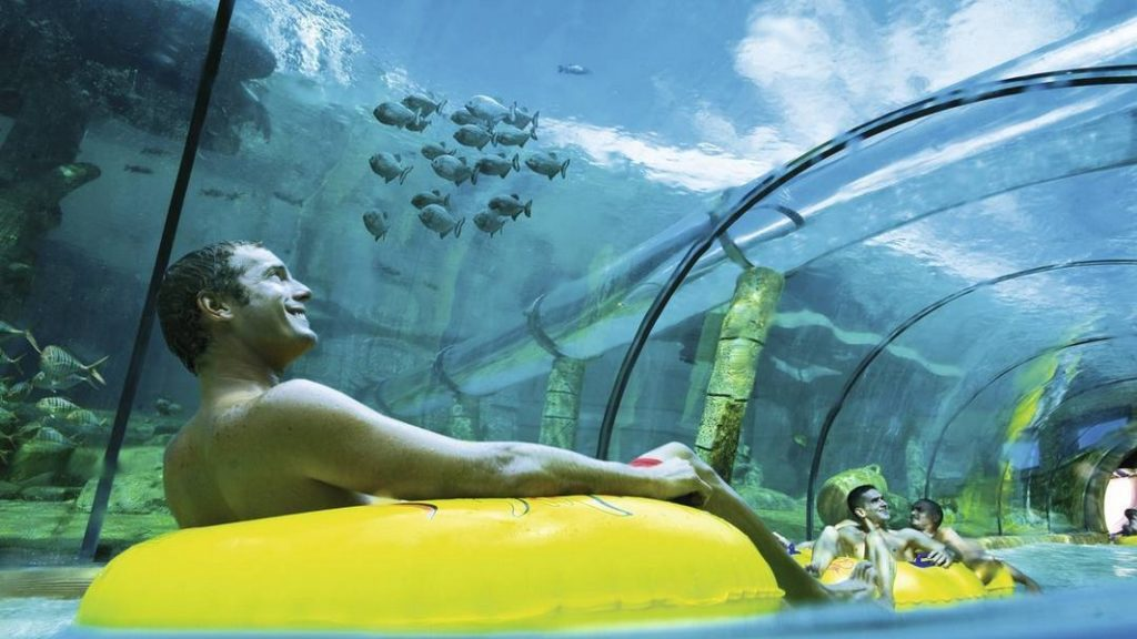 тунель через аквариум