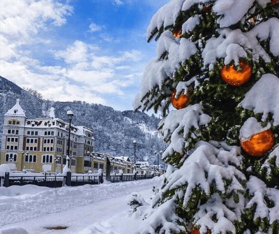 Красная Поляна в декабре