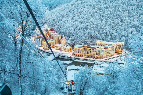 Красная Поляна зимой