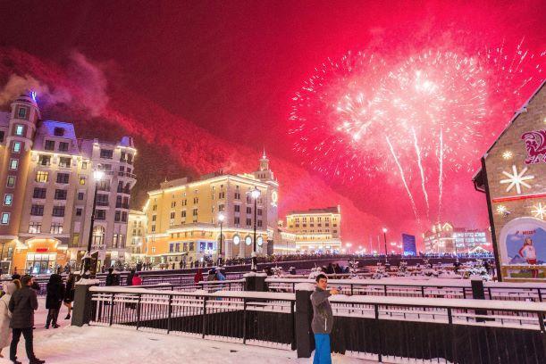 Красная Поляна в январе