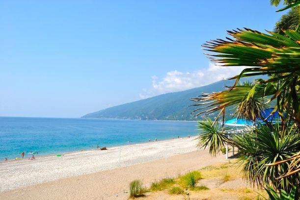 Абхазия море пляж