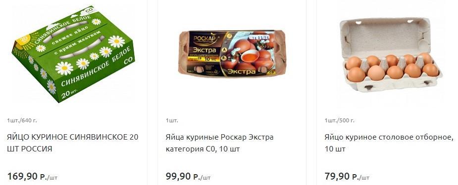 Цены в магазинах Калининграда